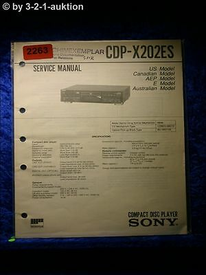 Sony Service Manual CDP X202ES CD Player (#2263)