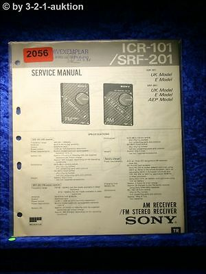Sony Service Manual ICR 101 / SRF 201 FM/AM Receiver (#2056)