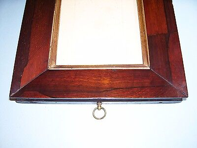 Antique Miniature Georgian Rosewood Sully Gilt Slip Picture Frame Old Glass