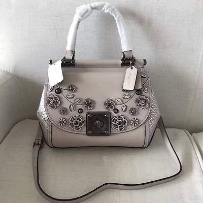 NWT Authentic Coach Drifter Top Handle with Willow Floral Leather Satchel 54079