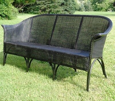 ORIGINAL Llyod Loom BENTWOOD 3-Seat Wicker Antique SOFA -See Delivery Options