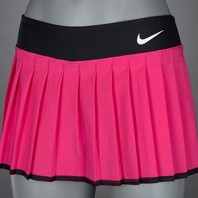 Nike Victory Girls Tennis Skirt 724714 616 Vivid Pink Black