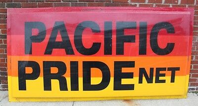 """Large Advertising Pacific Pride Net Gas & Oil Polycarbonate Sign 48 X 95"""""""