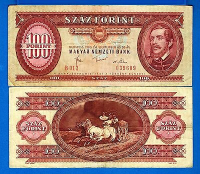 Hungary P-171 100 Forint Year 1957-89 Circulated FREE SHIPPING