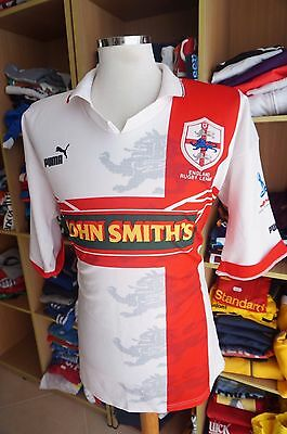 Vintage Rugby League Shirt England 1995 (XL) Home Puma World Cup Jersey Maillot