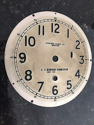 Chelsea Clock Co. 6 Inch U.S. MARITIME COMMISSION Type B 12 Hour Dial