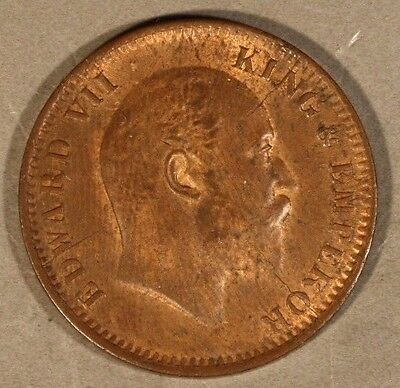 1906 C India 1/4 Anna High Grade Red Brown Coin     ** FREE US SHIPPING **