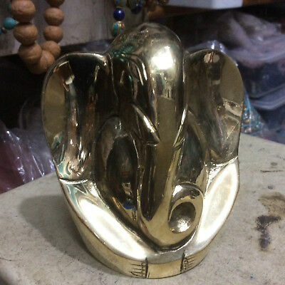 Ganesh Special Hindu God For Fortune Ganesha  Hand Made in Brass Nepal.