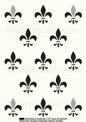 Lilly Flower Pattern Stencil Template Masks Cards Paint Furniture Crafts TE209