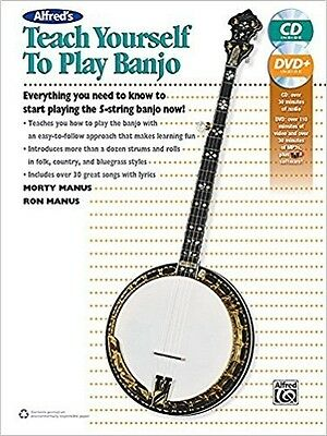 Alfred's Teach Yourself To Play Banjo (5-String Banjo - Book, CD & DVD)