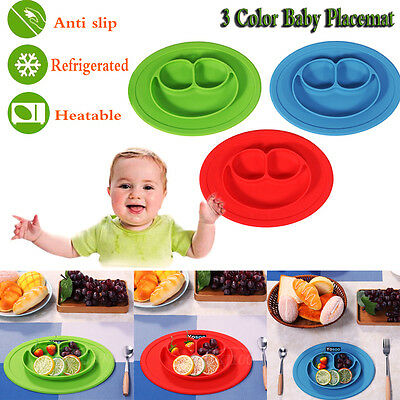 Silicone Mat for Kids Child Suction Table Food Tray Placemat Plate Bowl Dining