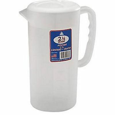Arrow Plastic 2 1/4 QT, Frostware Pitcher - COVER Color May Vary