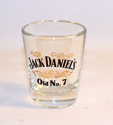 Jack Daniel's Old No. 7 Collectible Shooter Shot Glass Clear Glass