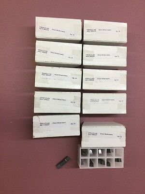 Ten Boxes Of Ten (10) Silicon Nitride Ceramic Inserts Vdb-B-C2-43B, Bulk Lot