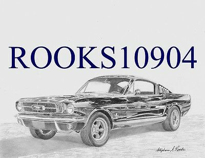 1965 Ford Mustang Fastback CLASSIC CAR ART PRINT