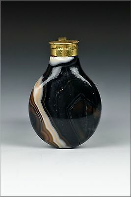 18th / 19th Century Agate & Solid Gold Scent  Bottle Pendant
