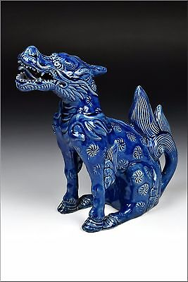 19th Century Asian Porcelain Statue of Beast or Dragon