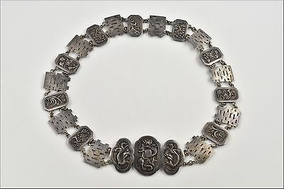 Fine Chinese Export Silver Belt Marked KMS / KWONG MAN SHING of Hong Kong