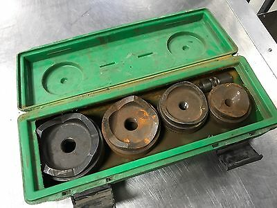 """Greenlee Hydraulic Knockout Punch Set 2 1/2"""" , 3"""" , 3 1/2"""" , 4"""""""