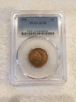 1900 $5 Gold Liberty Head Half Eagle PCGS AU 58 Population 770