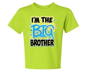 #1 MANY COLORS KIDS TEE 6 Months Big Brother again 18-20=XL The Best new style