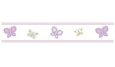 Pink and Purple Butterfly Baby and Childrens Wall Border