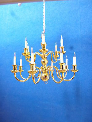 Dolls House Lighting  12 ARM CHANDELIER  'ELITE RANGE'   LT8002