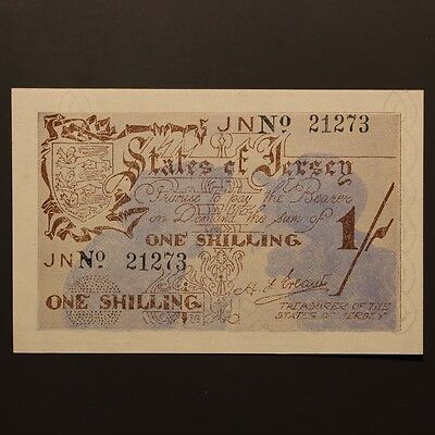 Jersey Shilling ND(1941-42) P#2a Banknote EF/EF+