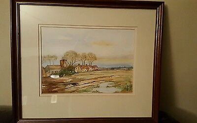 Original    Vintage  watercolour painting signed  (attic find).