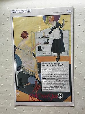 Antique Advertisement Ad Fashion Print Red Cross Shoes 1917