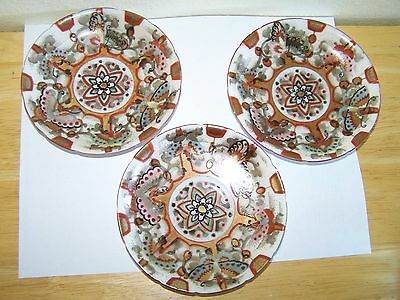 Antique Very Thin Delicate Beautiful Asian Porcelain Saucers