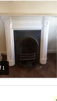 Original Victorian Cast Iron Fireplace Stunning