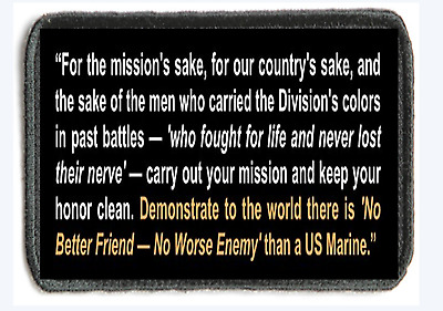 Morale Patch. Mad Dog Mattis. Tactical. Hook And Loop. Marines