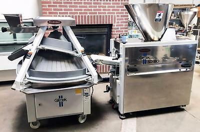 Glimek Sd-180 & Cr-260 Bakery Equipment Dough Divider And Conical Dough Rounder