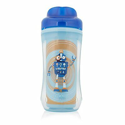 Dr. Brown's Spoutless Insulated Cup, 10 oz (12m+), Robot Blue, Single