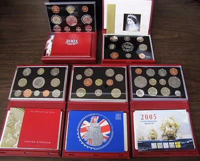 2001-2005 (5) Great Britain Proof Set.