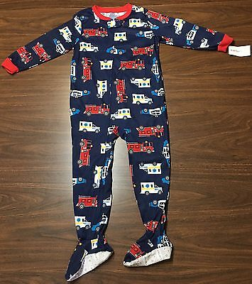 NWT Carter's Emergency Vehicles Footed One-Piece Pajamas Size 4T
