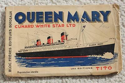Cunard White Star Line Rms Queen Mary Maiden Voyage Tito French Postcard Book