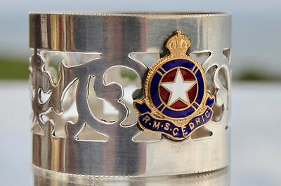 White Star Line Rms Cedric Bought Onboard Babers Shop Ships Souvenir Napkin Ring