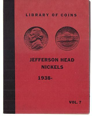Vintage Library Of Coins Jefferson Head Nickels 1938-Date Coin Album Book Vol.7