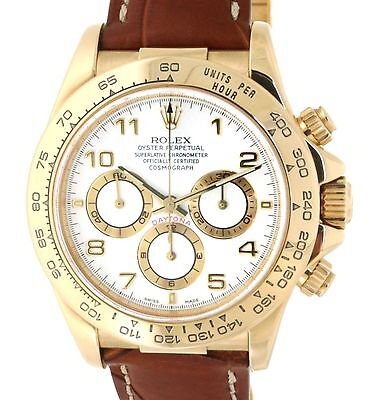 Rolex DAYTONA 16518 YELLOW GOLD, LEATHER, 40MM 16518