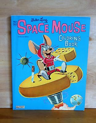 1962 Saalfield Publishing SPACE MOUSE Coloring Book WALTER LANTZ clean COMPLETE