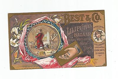 Victorian Trade Card   Best Co of New York City Late 1800's