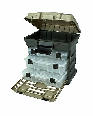 Plano Molding 1363 Stow N Go Toolbox Graphite Gray and Sandstone