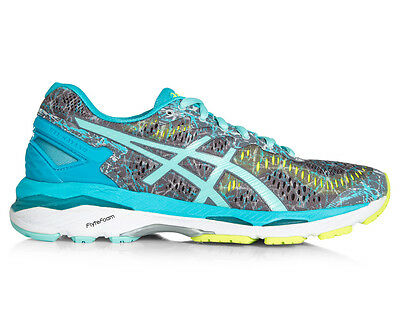 ASICS Women's GEL-Kayano 23 Shoe - Shark/Aruba Blue/Aquarium
