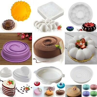 Silicone Mousse Mold Cake Mirror Cheesecakes Chocolate Dessert Mould Baking Pan