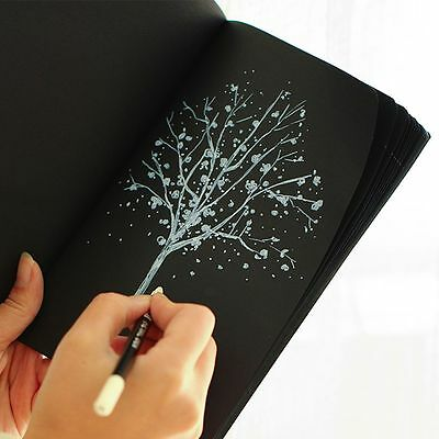Notebook Diary Paper Notepad Sketch Graffiti Notebook For Drawing Painting Black