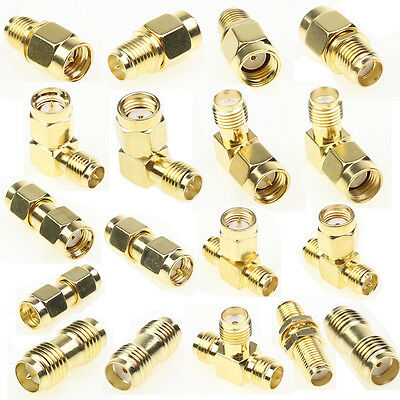 18 Type SMA Kits Connector Plug Male Female Antenna Converter Adapter Coax Set