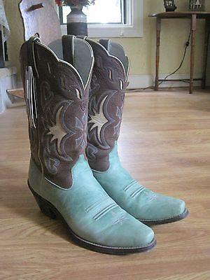 Ariat Turquoise Manzanita Boots Leather Women's 9B Excellent