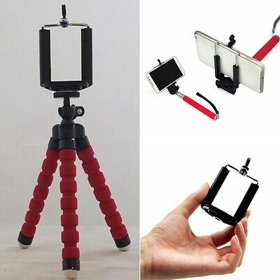 Flexible Octopus Bracket Holder Tripod Stand Mount For Cell Phone iPhone Camera